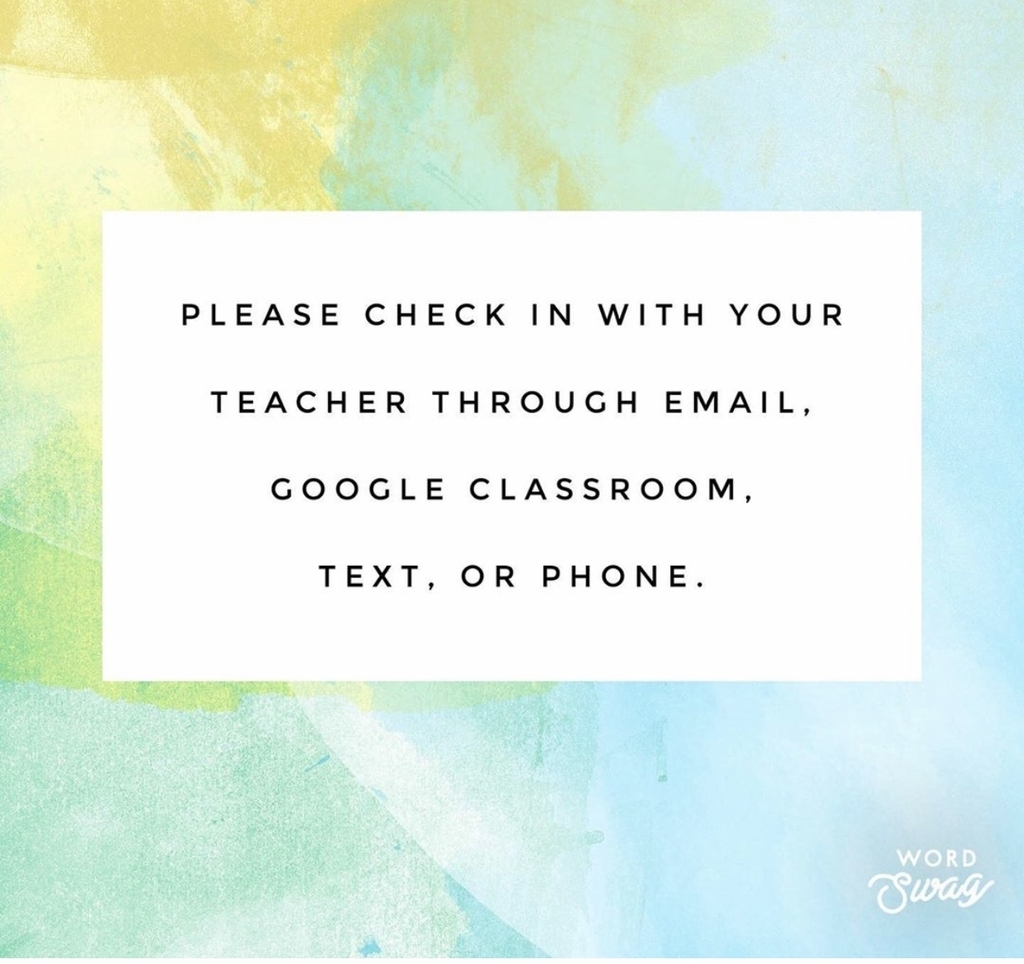 Pls check in with your teachers. 💚🐝💚