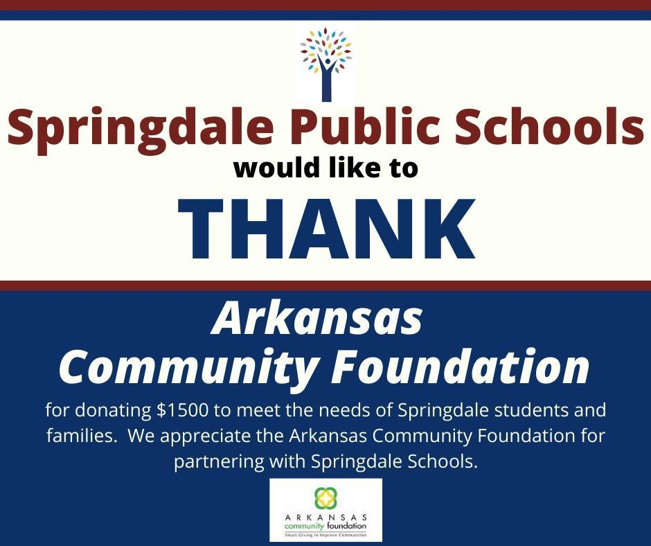 Thank You Arkansas Community Foundation