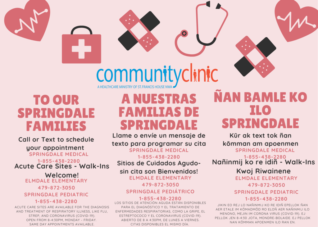 Community clinic information