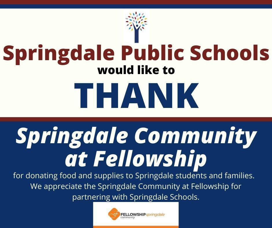 Thank you, Springdale Community at Fellowship
