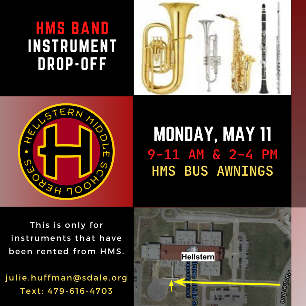 band instrument drop-off poster