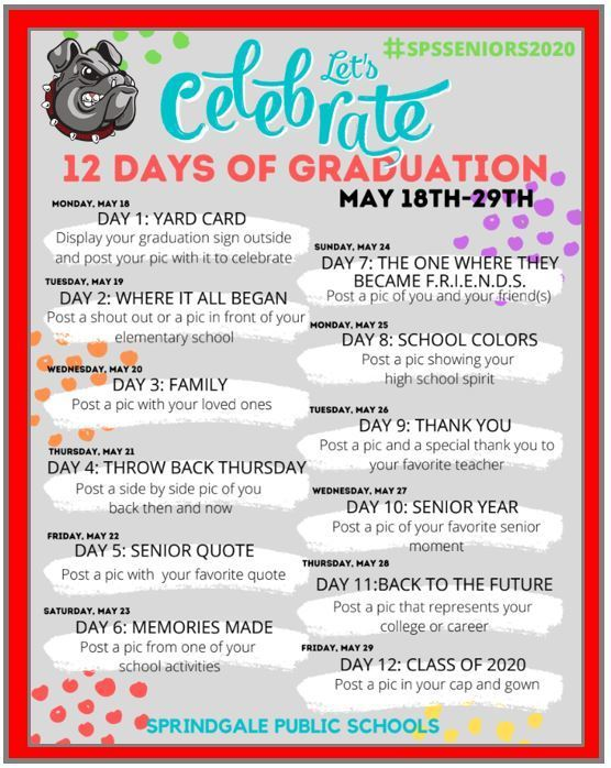 12 Days of Graduation