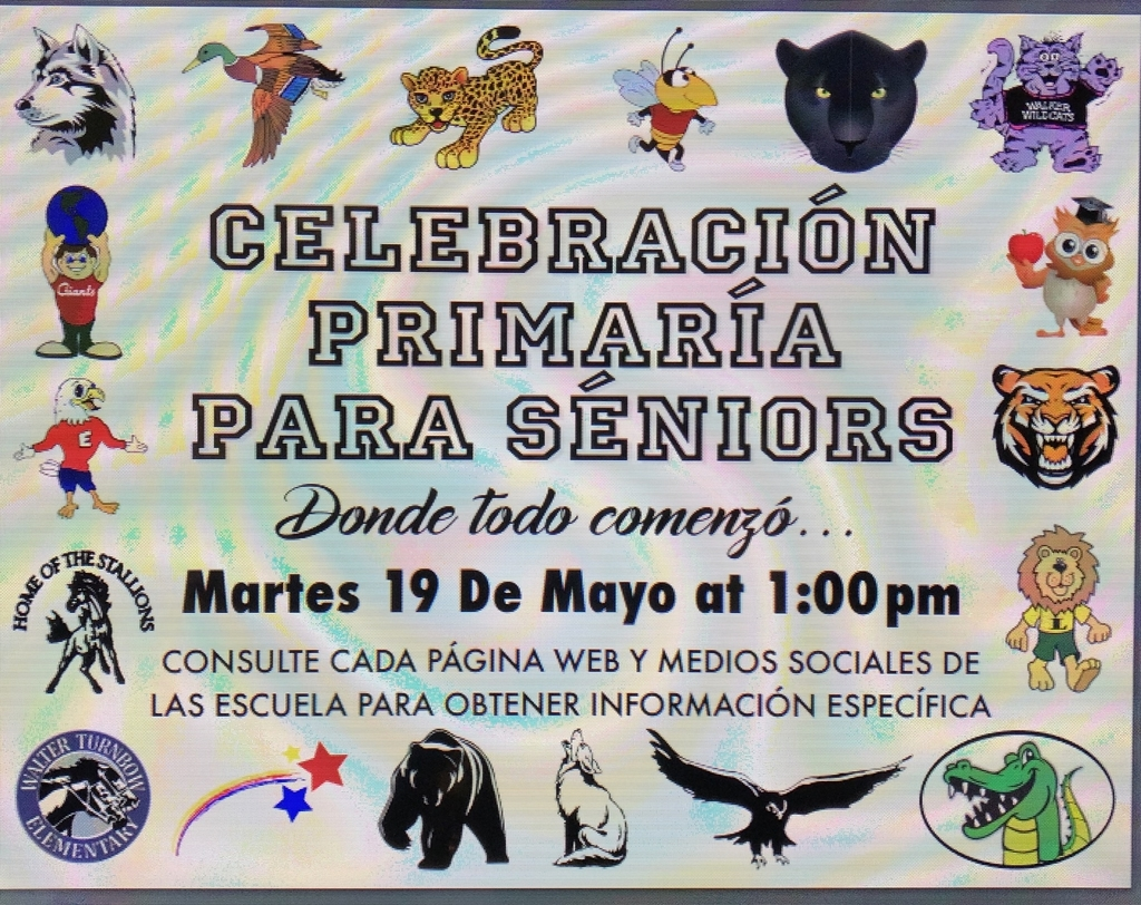 Senior Parade at Elmdale from 1:00 to 3:00 on May 19th!