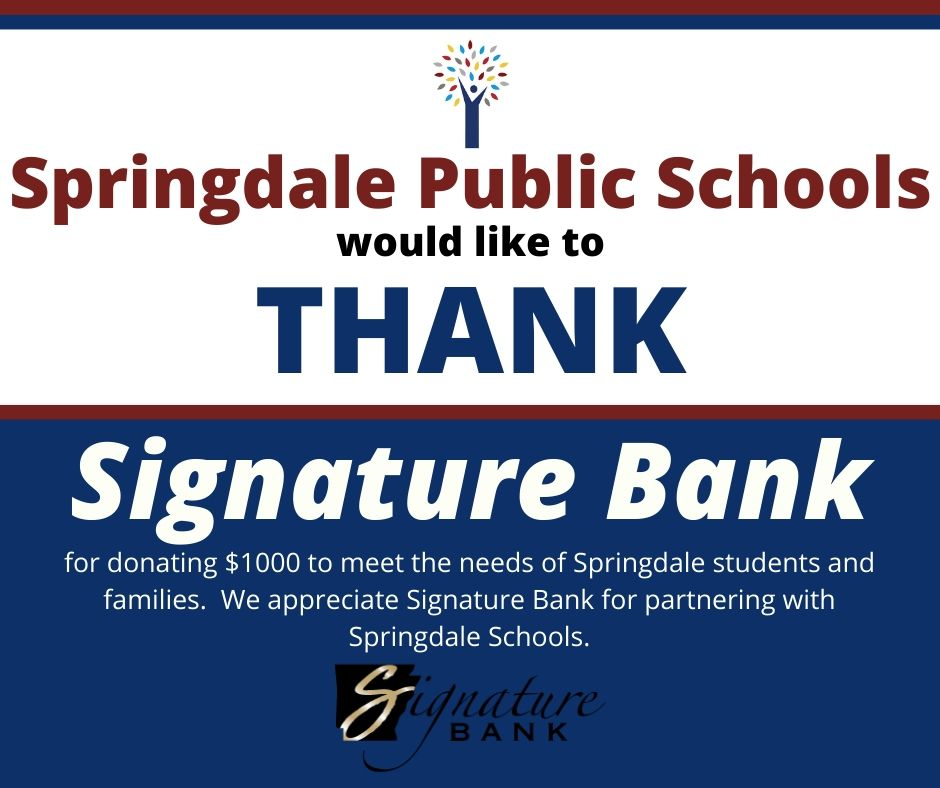 Thank you Signature Bank