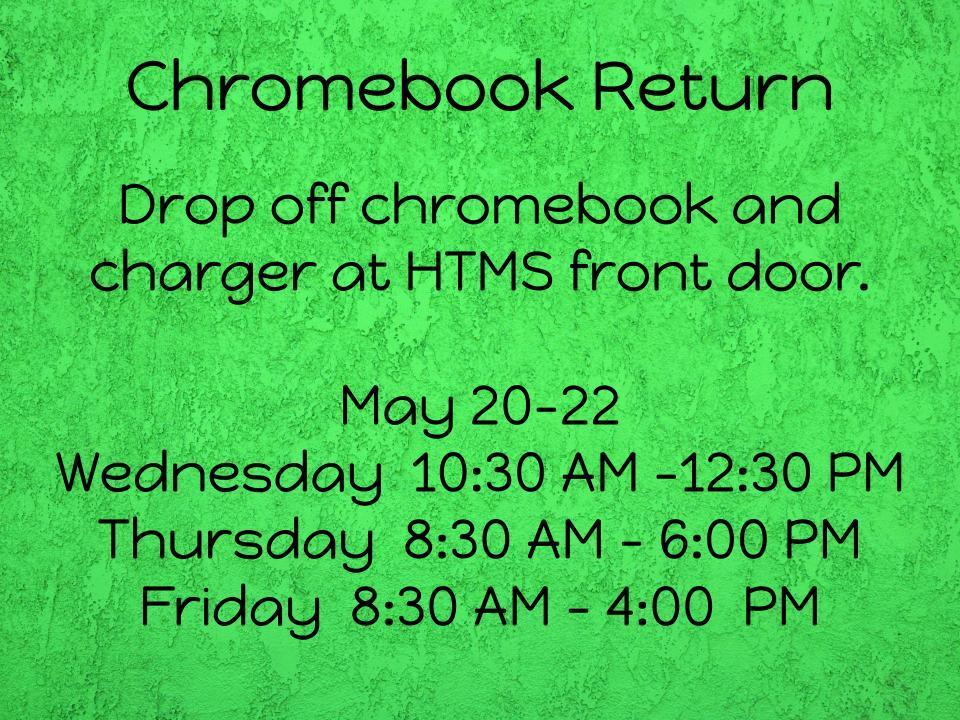 Chromebook / Charger Return