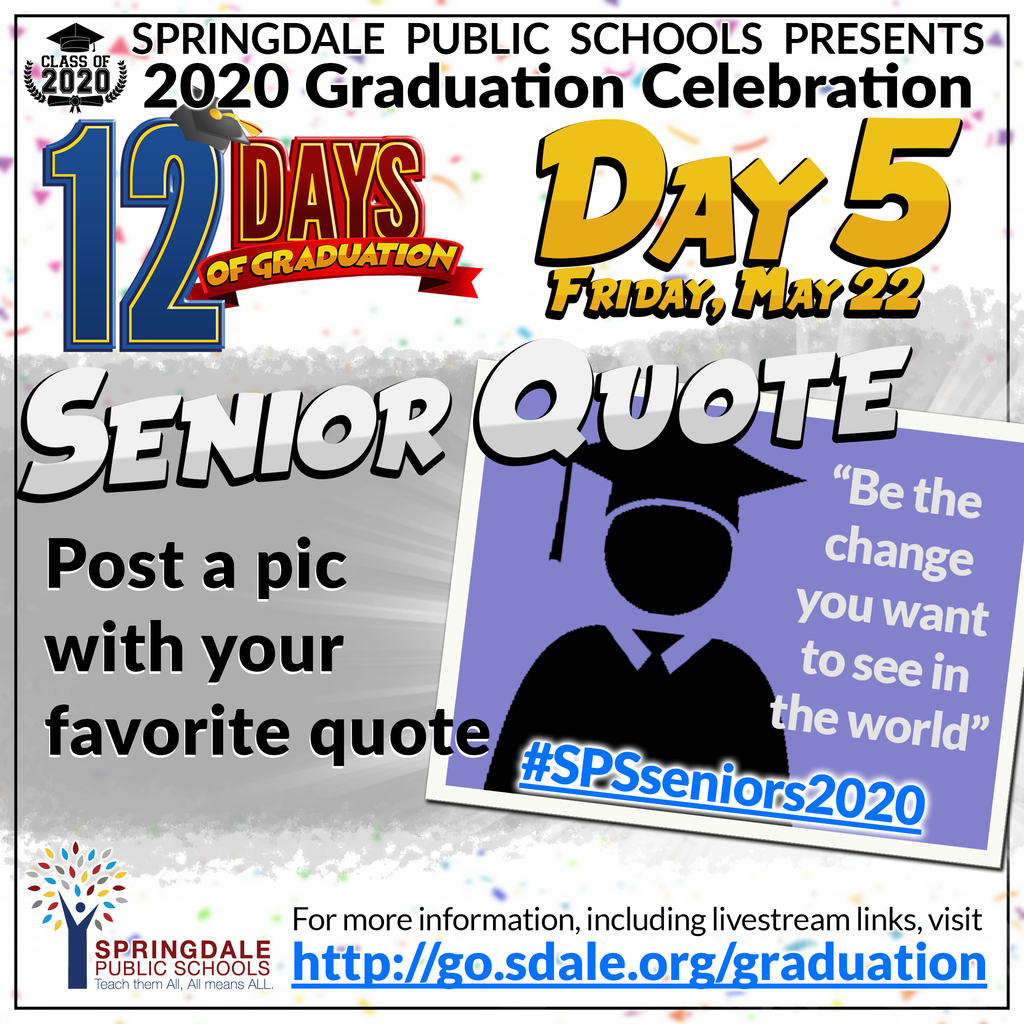 ENG 12 Days of Graduation Day 5