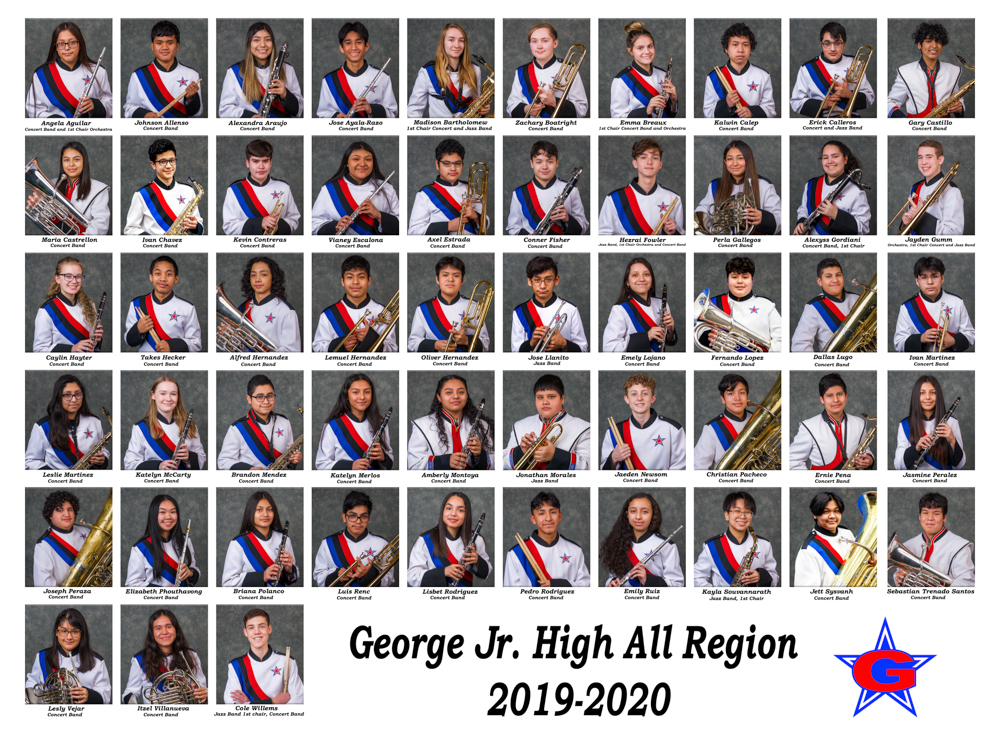 George JH All-Region Band members