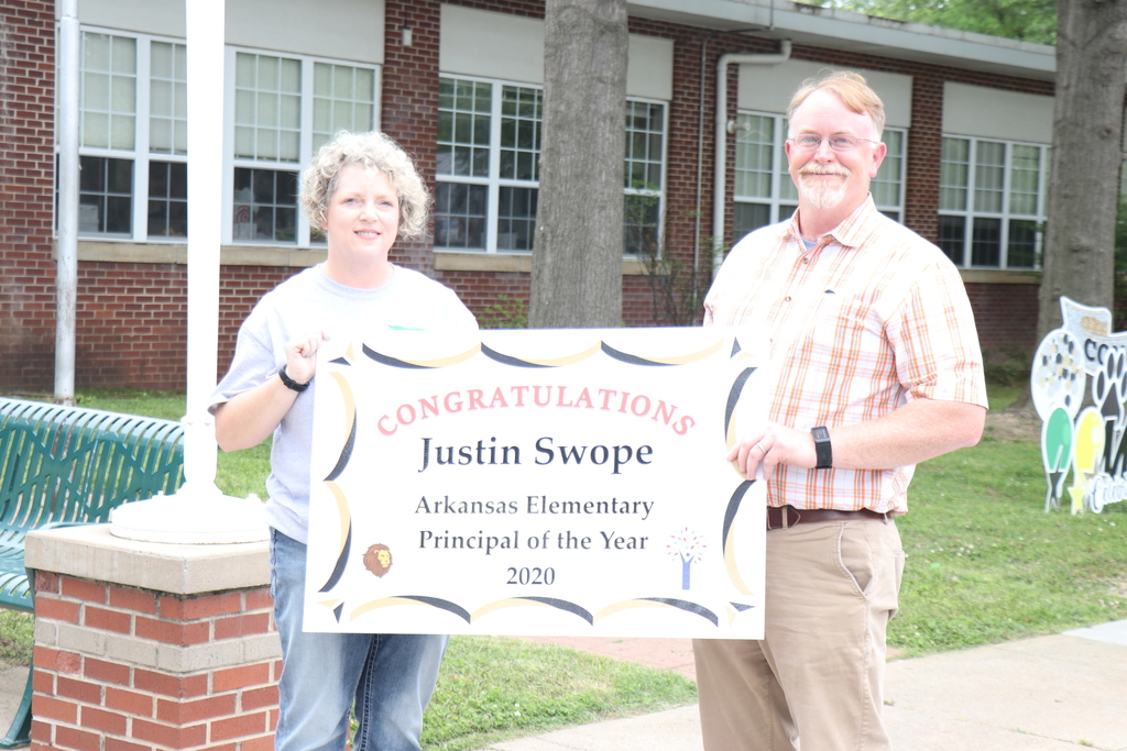 Justin Swope, Principal of Year with Cindy Covington