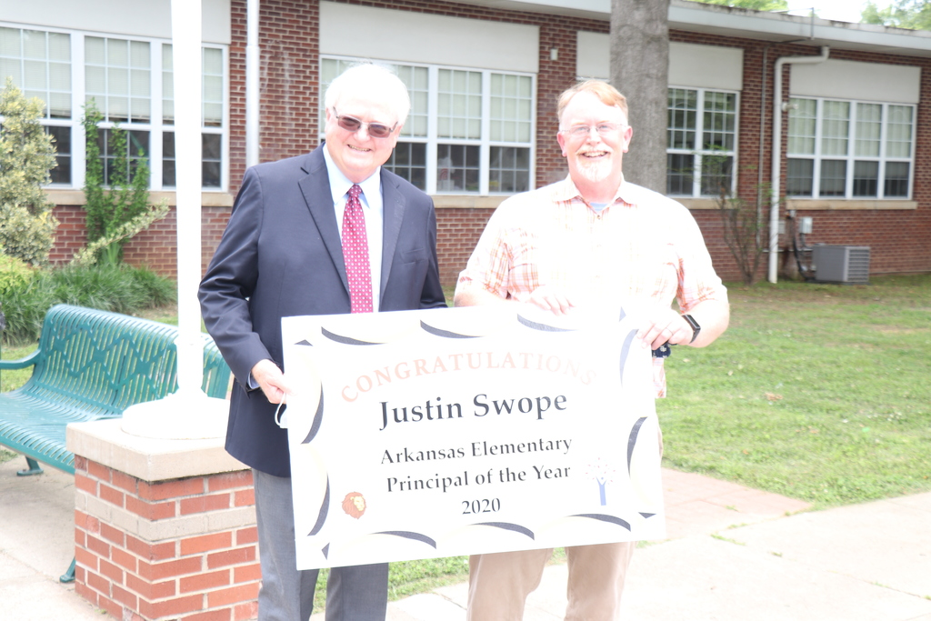 Justin Swope and Dr. Rollins