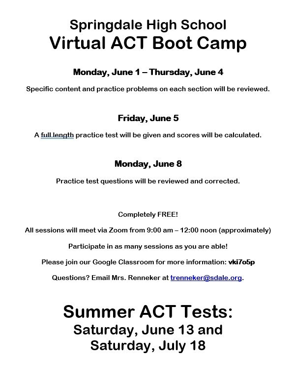 Virtual ACT Boot Camp