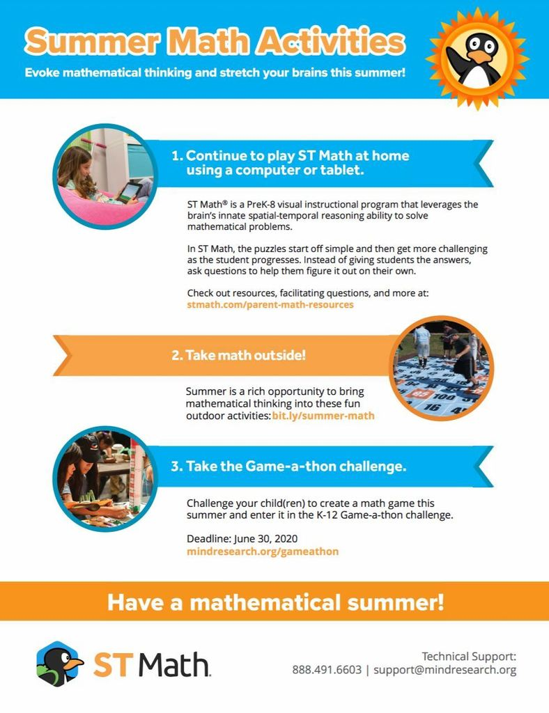 See #1 for summer access to ST Math!