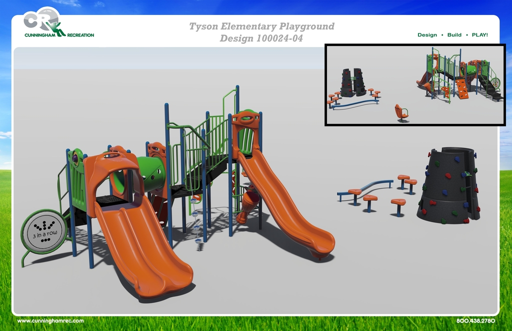 Design of new playground structure.