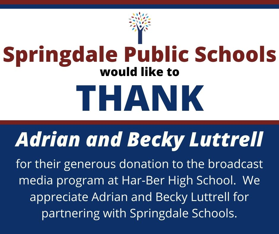 Thank you to Adrian and Becky Luttrell