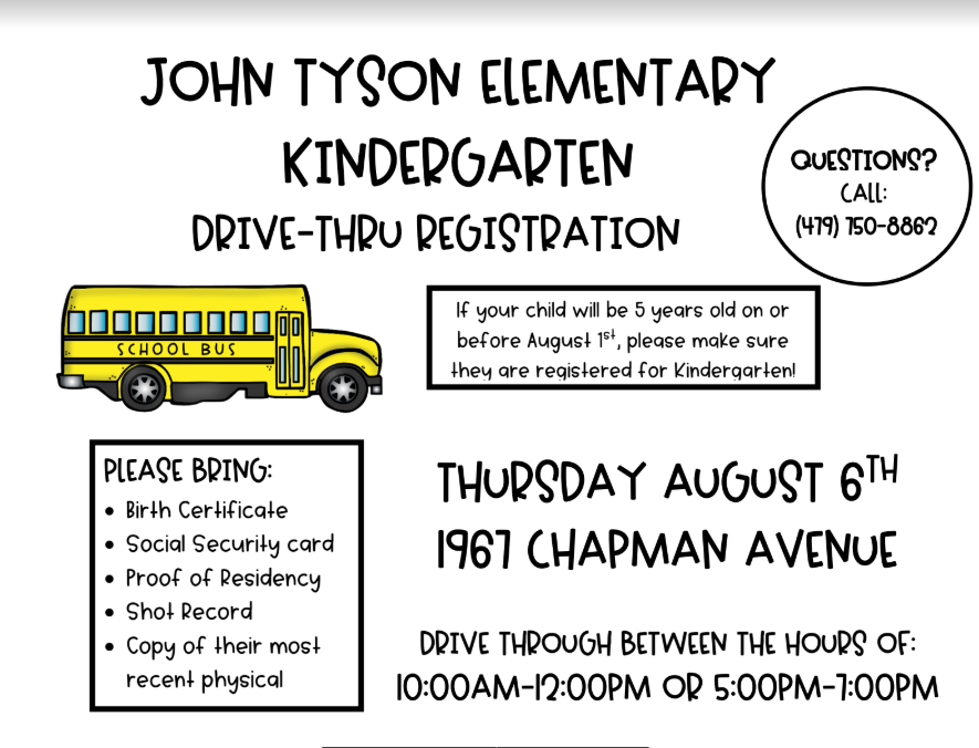 Kinder Registration Event