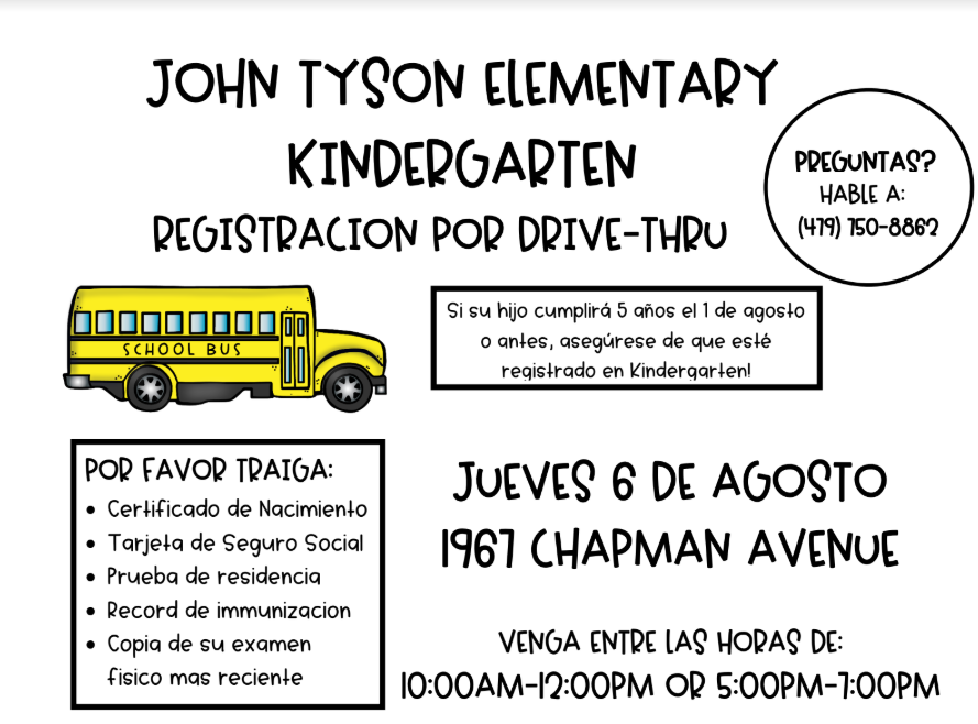 Kindergarten Registration Event