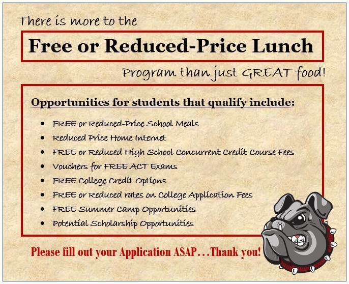 FREE/Reduced Lunch INFO